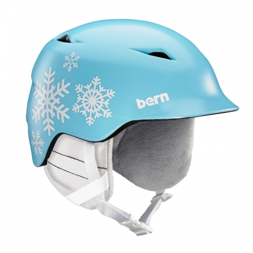 Dětská helma Bern Camino satin light blue snowflake 2019/20201