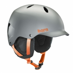 Snowboardová helma Bern Bandito Satin grey