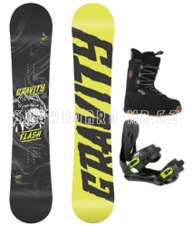 Snowboard komplet Gravity Flash yellow