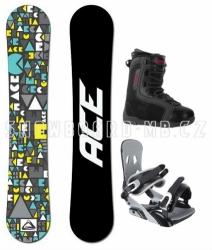 Levný univerzální snowboardový set Ace Mojo s botami