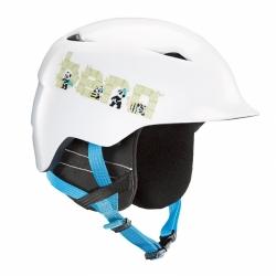Dětská helma Bern Camino satin white panda logo