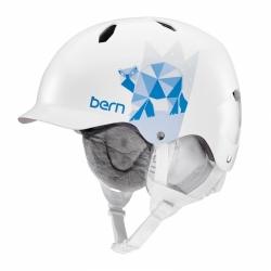 Dívčí helma Bern Bandita satin white polar bear