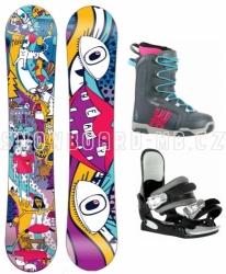 Dětský a dívčí snowboardový komplet Beany Bark