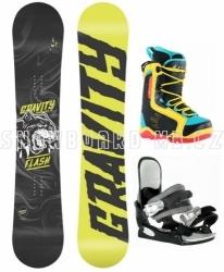 Dětský snowboard komplet Gravity Flash a barevné snb boty Beany