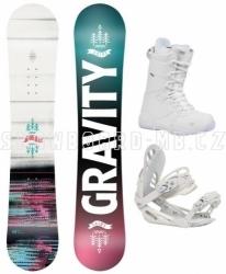 Dívčí snowboardový komplet Gravity Fairy (větší boty)