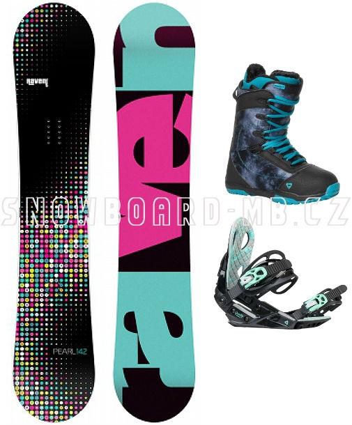 a2b60bbc0 Dámský snowboard komplet Raven Pearl black/blue | Snowboard-Komplety.cz