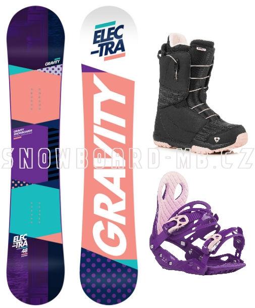 cafec6e38 Dámský snowboard komplet Gravity Electra, rychlozapínací boty Fast Lace1 ...