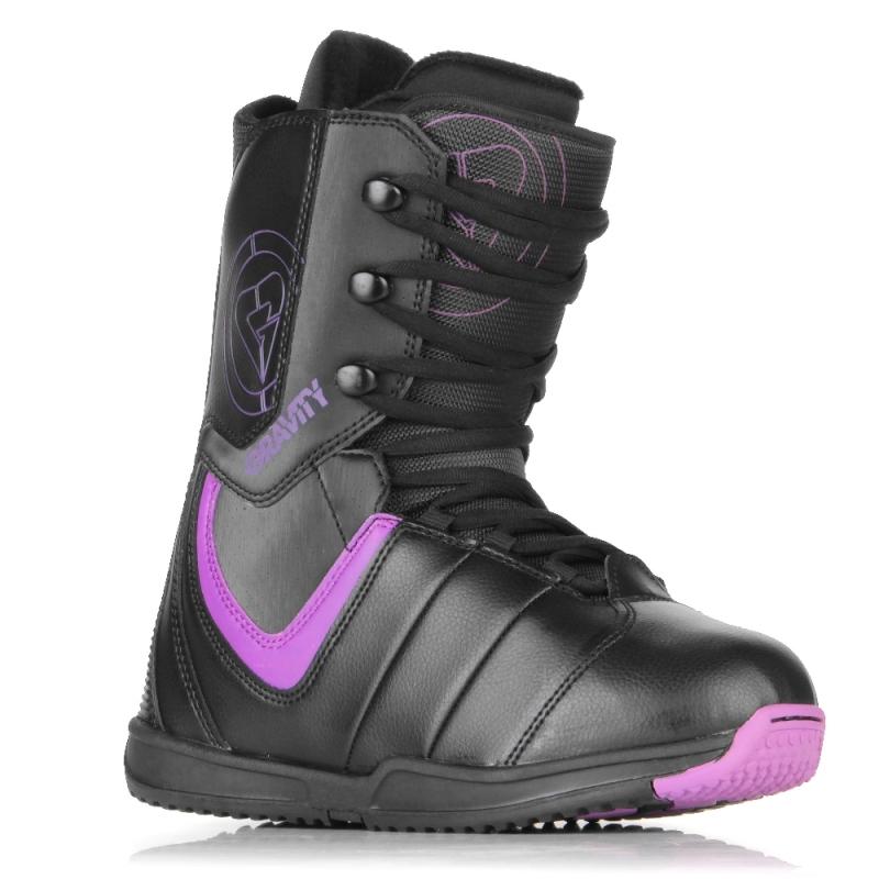 bc2d84b514f Snowboardové boty dámské Gravity Thunder black purple černé fialové -  VÝPRODEJ1